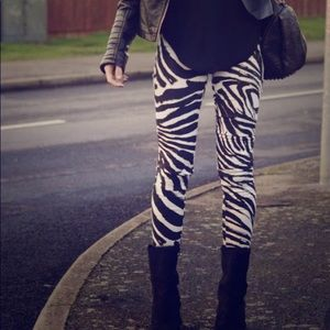 Zebra Print Leggings-Super Soft